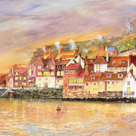 Whitby Dawn Reflections by Chris Sheldrake