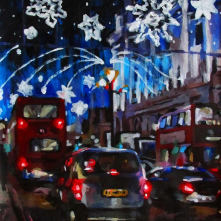 Christmas on London's Streets by Kateryna Bortsova