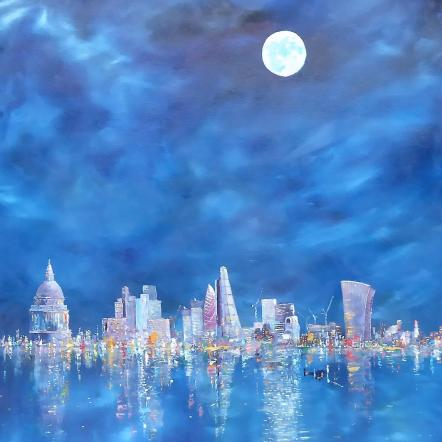 London Blue Moon by Chris Sheldrake